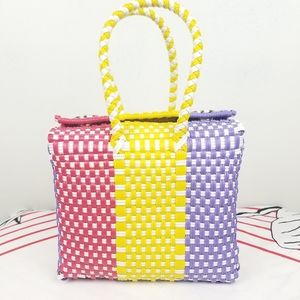 Mexican Multicolored Weaved Hand Bag